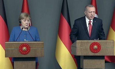 Cumhurbaşkanı Erdoğan'la Merkel görüştü!