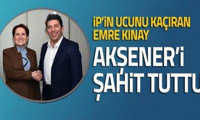 İp'in ucunu kaçıran Sosyalist Emre Kınay, Akşener'i şahit tuttu
