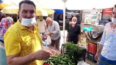 Yeşilçam'ın sert adamı semt pazarında ilgi odağı oldu