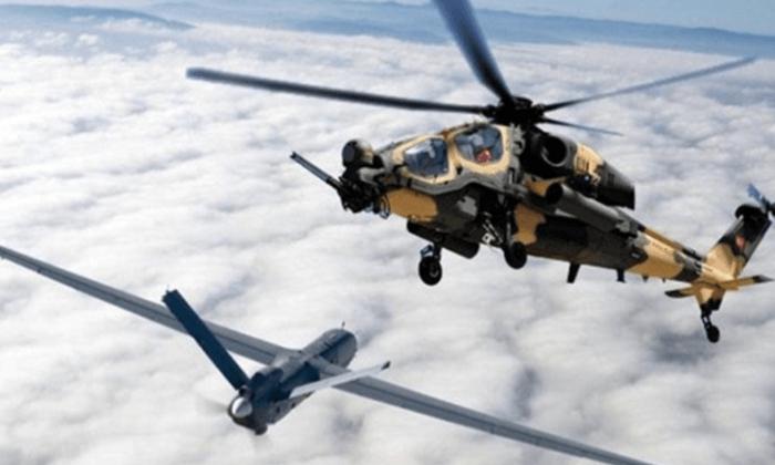 Pençe-Şimşek ve Pençe-Yıldırım operasyonları kapsamında terörist mevzileri Türk Hava Kuvvetlerince imha ediliyor