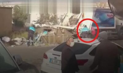 Duygulandıran davranış! Çöpte Türk bayrağını görünce…