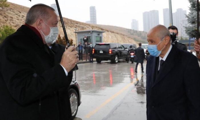Cumhurbaşkanı Erdoğan'dan, MHP Lideri Bahçeli'ye ziyaret