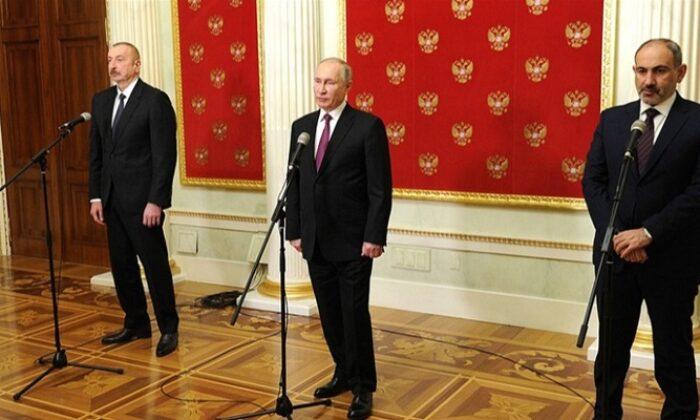 Putin, Aliyev ve Paşinyan'ın Dağlık Karabağ görüşmesi sona erdi