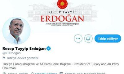 Twitter'dan Cumhurbaşkanı Erdoğan hamlesi!