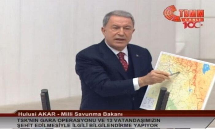 Bakan Akar'dan TBMM'de Gara operasyonu açıklaması