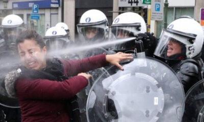 Türkiye kınamak için yarışa girenlerin portresi! ABD ve Avrupa polisinden orantısız güç