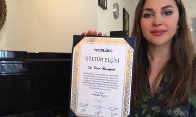Azerbaycanlı Devlet Sanatçısı Turan Manafzade, 'Kültür Elçisi' seçildi