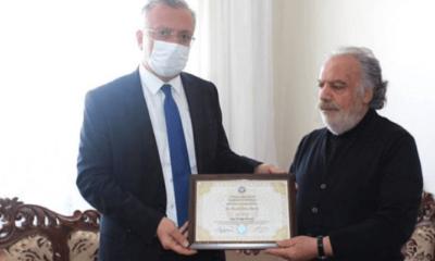 Gara şehidin diploması babasına teslim edildi