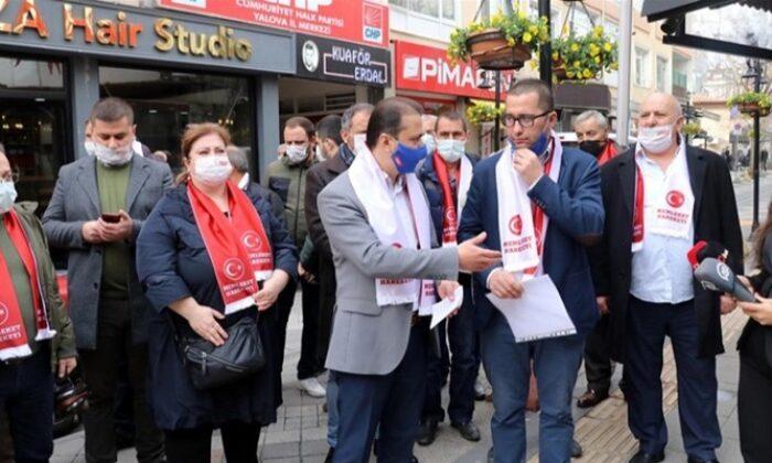 Yalova'da bir grup CHP'li parti üyeliğinden istifa etti