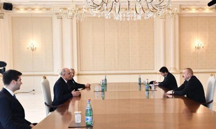 Azerbaycan Cumhurbaşkanı İlham Aliyev, MHP heyetini kabul etti
