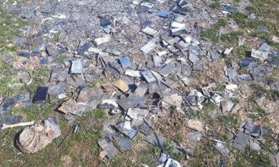 Kayseri'de yakılmış bin adet cep telefonu bulundu
