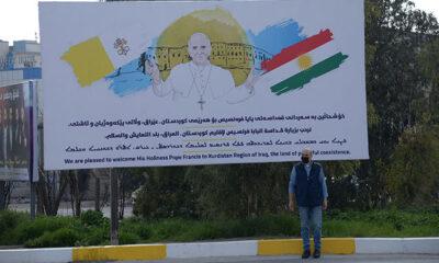 Irak'da Papa'dan İngilizce, İbranice, Arapça ve Kürtçe 'Hepiniz kardeşsiniz' mesajı