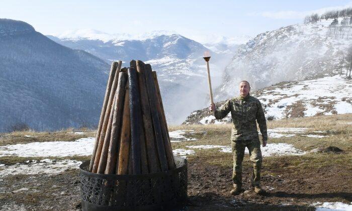 Aliyev, Şuşa'da Nevruz ateşini yaktı
