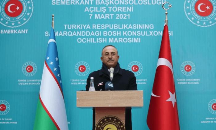 Bakan Çavuşoğlu: Türkiye'nin ata yurdu olan Özbekistan'la daimi kardeşliğin yeni bir simgesi olacak