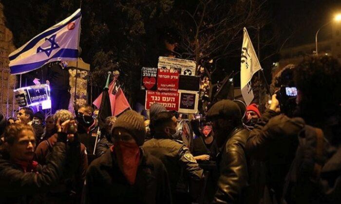 Binlerce İsrailli Netanyahu karşıtı gösteri düzenledi