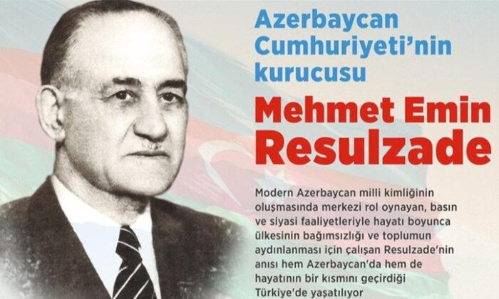 Azerbaycan Cumhuriyeti'nin kurucusu Mehmet Emin Resulzade'nin vefatının 66. yılında anılıyor