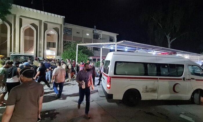 Bağdat'ta hastanede çıkan yangında çok sayıda kişi hayatını kaybetti