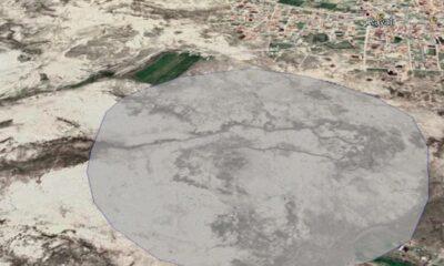 1 kilometrelik alanda 100'ün üzerinde obruk tespit edildi