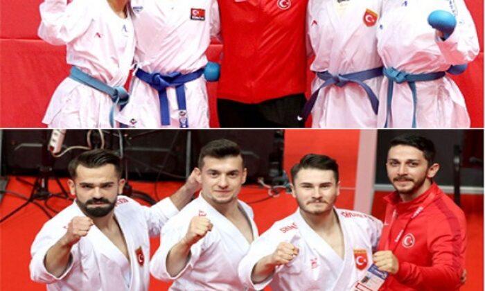Milli karateciler 9 madalya ile 4. kez Avrupa'nın zirvesine çıktı