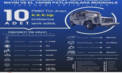 Mehmetçik mayın ve EYP'lere araçtan inmeden müdahale edecek