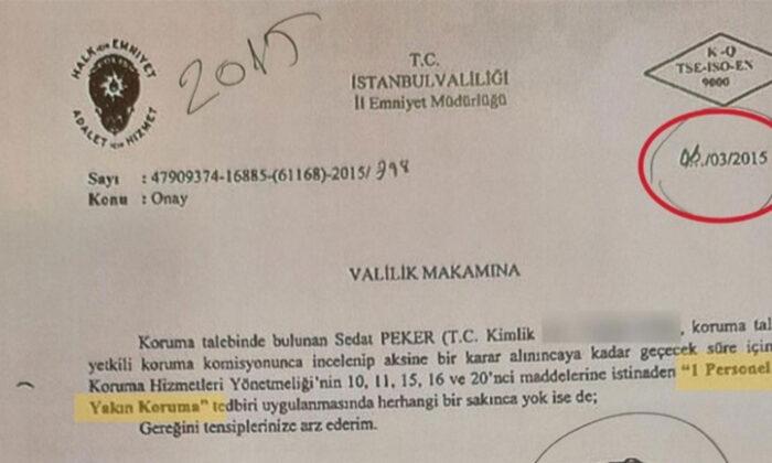 Sedat Peker'e koruma kararında FETÖ izi tespit edildi
