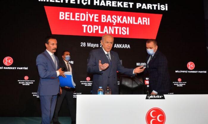 MHP Lideri Bahçeli, belediye başkanları ile bir araya geldi