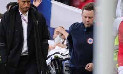 EURO 2020'de kahreden anlar! Eriksen'in kalbi durdu, maç ertelendi!