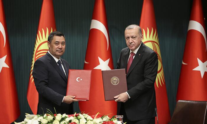 Cumhurbaşkanı Recep Tayyip Erdoğan ve Kırgızistan Cumhurbaşkanı Sadır Caparov'dan basın açıklaması