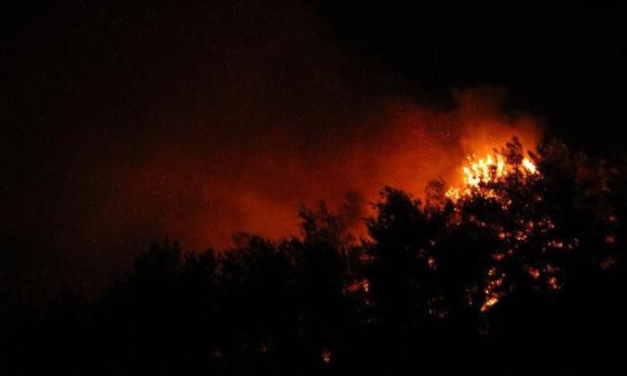 Yangın bir türlü kontrol altına alınamıyor köyler tehlikede…