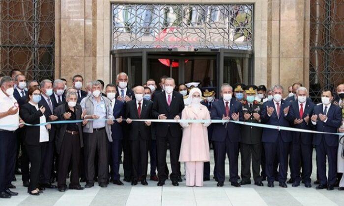 Cumhurbaşkanı Erdoğan MHP Lideri Devlet Bahçeli, 15 Temmuz Demokrasi Müzesi'ni açtı
