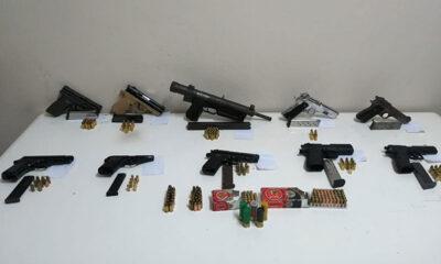 Edirne'de 1 otomatik silah, 9 tabanca ve uyuşturucu ele geçirildi