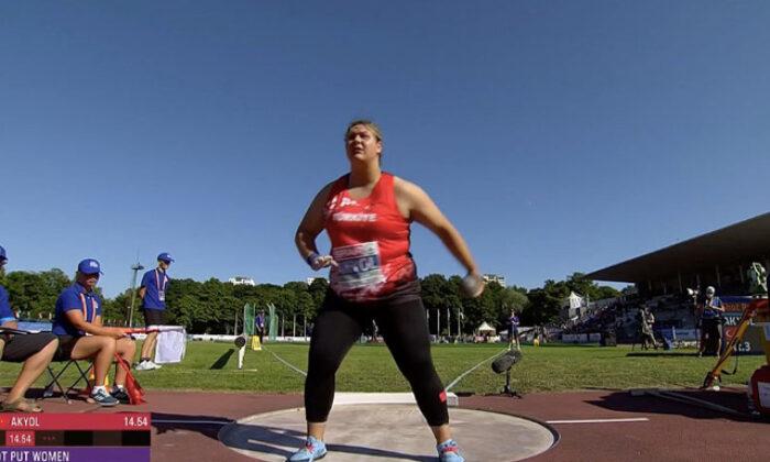 Milli atlet Pınar Akyol gülle atmada Avrupa şampiyonu oldu