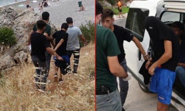 Vatandaşlar korkularından denize giremiyordu! Falezlerde kıskıvrak yakalandılar
