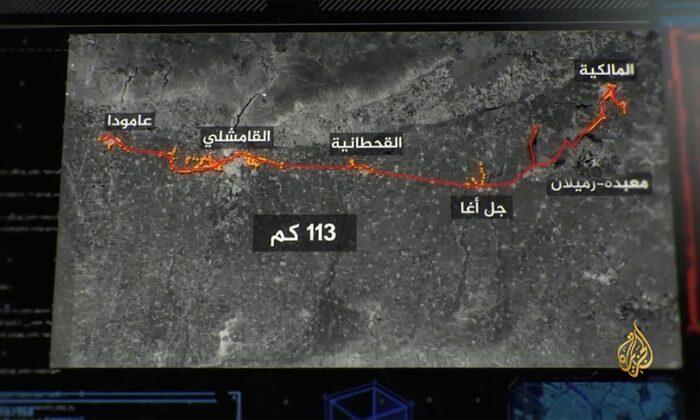 Terörist YPG/PKK'nın Haseke'de Türkiye sınırı hattında 113 kilometreyi bulan tüneller kazdığı ortaya çıktı