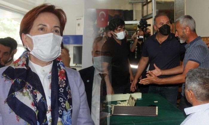 Akşener'in Erzincan ziyaretinde gerginlik! 'Yalan söylüyorsunuz!'