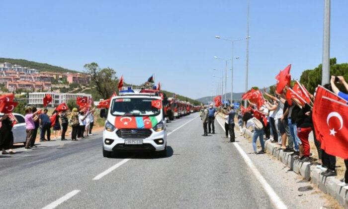 """Azerbaycanlı """"alev savaşçıları"""" ülkelerine uğurlandı"""