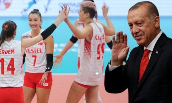 Cumhurbaşkanı Erdoğan'dan Filenin Sultanlarına tebrik