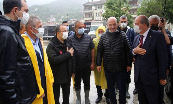 KKTC Cumhurbaşkanı Ersin Tatar'dan sel felaketinin yaşandığı Bozkurt'a 'geçmiş olsun' ziyareti