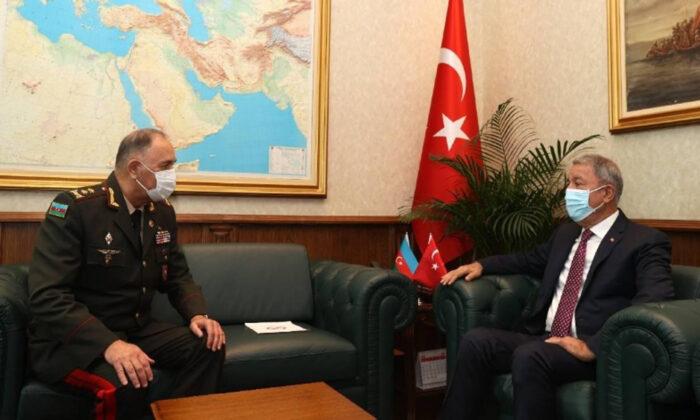 Bakan Akar, Azerbaycan Genelkurmay Başkanı Veliyev'i kabul etti