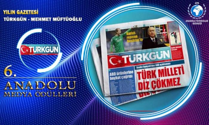 TÜRKGÜN'e Yılın Gazetesi Ödülü