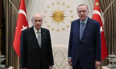 Cumhurbaşkanı Erdoğan ve Başkurt MHP Lideri Bahçeli görüşme gerçekleştirdi