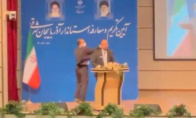 İran'da valiye 'Türkçe konuş' tokadı şoku! Ses tüm salonda yankılandı