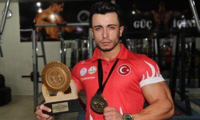 Kilo vermek için başladı, vücut geliştirmede Türkiye şampiyonu oldu