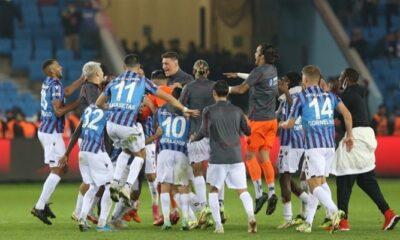 Dev maçı kazanan Trabzonspor zirveye yerleşti